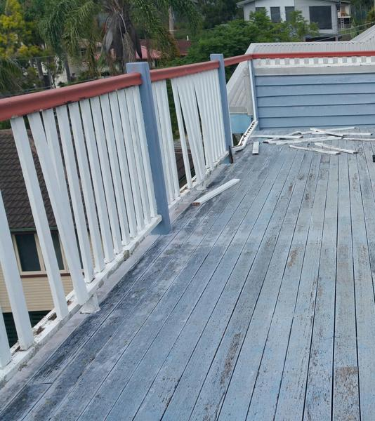 Balustrade Deck BEFORE
